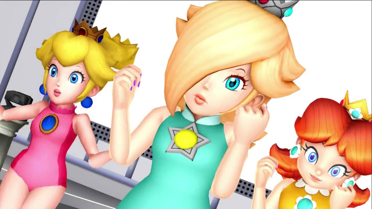 mmd nintendo princesses renai circulation feat rosalina peach