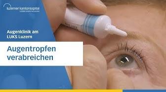Augentropfen verabreichen - Luzerner Kantonsspital -  Augenklinik Luzern