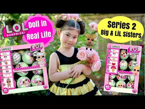 Real Life LOL Doll Queen Bee + Series 2 LOL Surprise Dolls & LiL Sisters + LOL Giveaway coming soon!