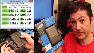 Samsung M3 1TB Portable USB 3.0 Hard Drive: Unboxing & Speed Test