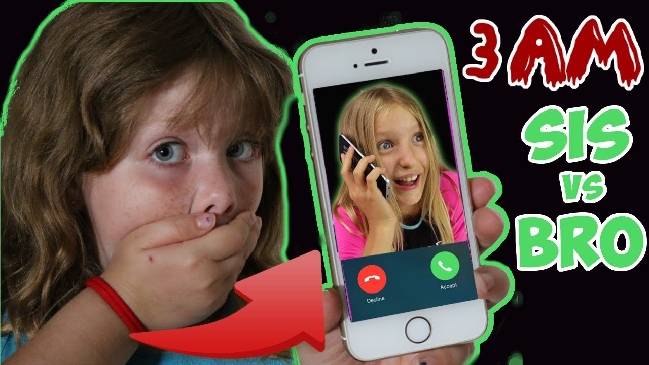 Calling Sis Vs Bro At 3Am Omg So Crazy Skit - Youtube-7330