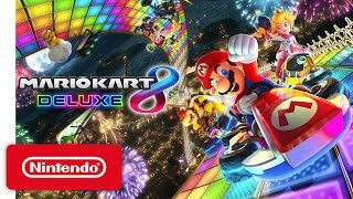 Mario Kart 8 Deluxe - Nintendo Switch Presentation 2017 Trailer(Mario Kart 8 Deluxe races onto Nintendo Switch on April 28! Pre-Order Here! http://www.nintendo.com/games/detail/mario-kart-8-deluxe-switch #NintendoSwitch ..., 2017-01-13T05:42:52.000Z)
