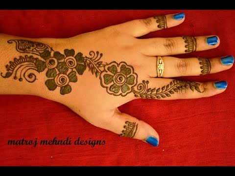Easy Simple Latest Henna Mehndi Designs For Hands Floral Mehndi