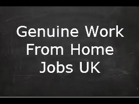 genuine work from home jobs uk youtube