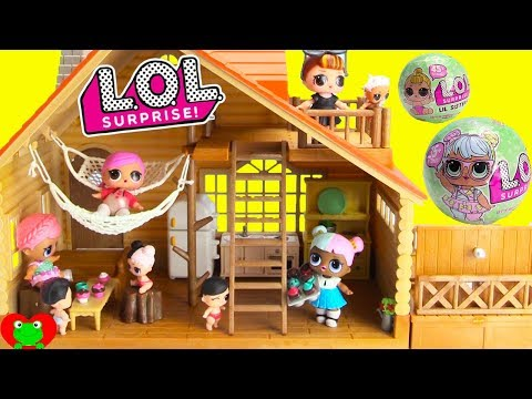 LOL Surprise Dolls Log Cabin Vacation Doll House