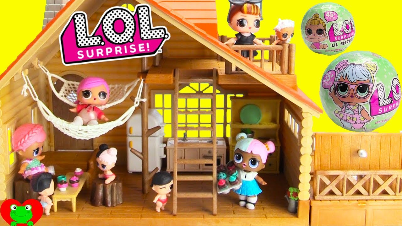 Lol Surprise Dolls Log Cabin Vacation Doll House Youtube