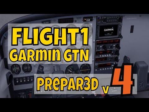 F1 GTN 650 booting in A2A C172 Trainer in Prepar3D v4