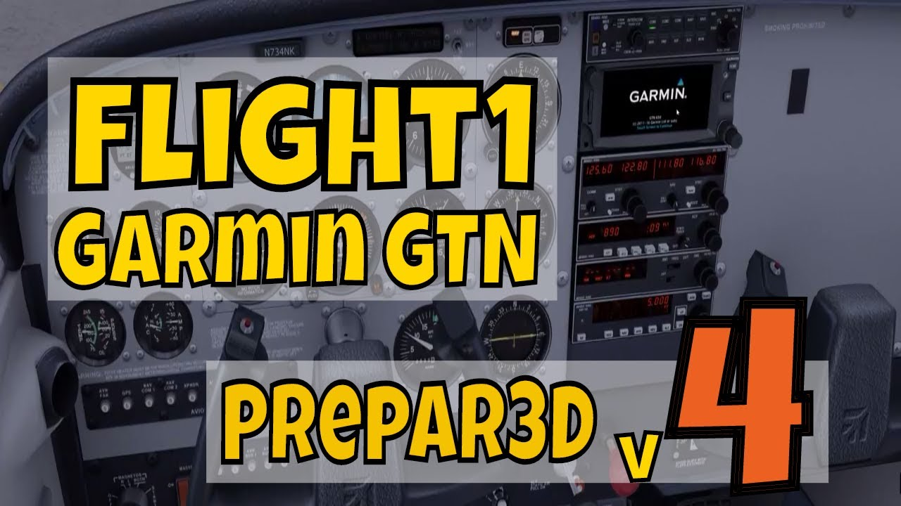 F1 GTN 650 booting in A2A C172 Trainer in Prepar3D v4