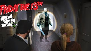 FRIDAY THE 13TH!! JASON CHASES MICHAEL'S FAMILY SURVIVAL (GTA 5 Mods)