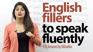 English fillers to speak fluently and confidently. ( Gap fillers) - Free English lessons thumbnail