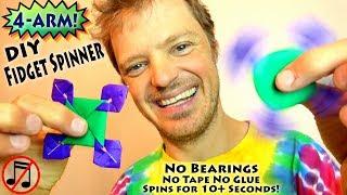 DIY Fidget Spinner NO BEARINGS (no music)