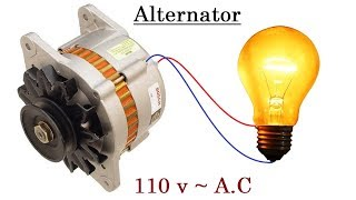 110v AC from a 12v Car Alternator New idea !