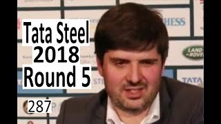 Tata Steel 2018 Round 5: Peter Svidler felt embarrassed!