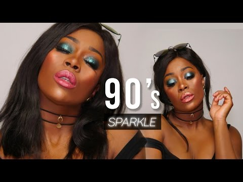 90s SPARKLE DRUGS MAKEUP + GROOVY METAL MATT LIPSTICKS | MULAC COSMETICS on DARK SKIN (ENG SUB)