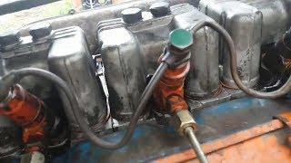 Запуск трактора т 40 после ремонта двигателя