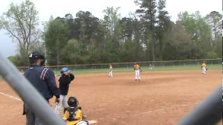9u travel baseball player