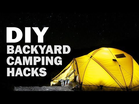 DIY Camping in our Backyard