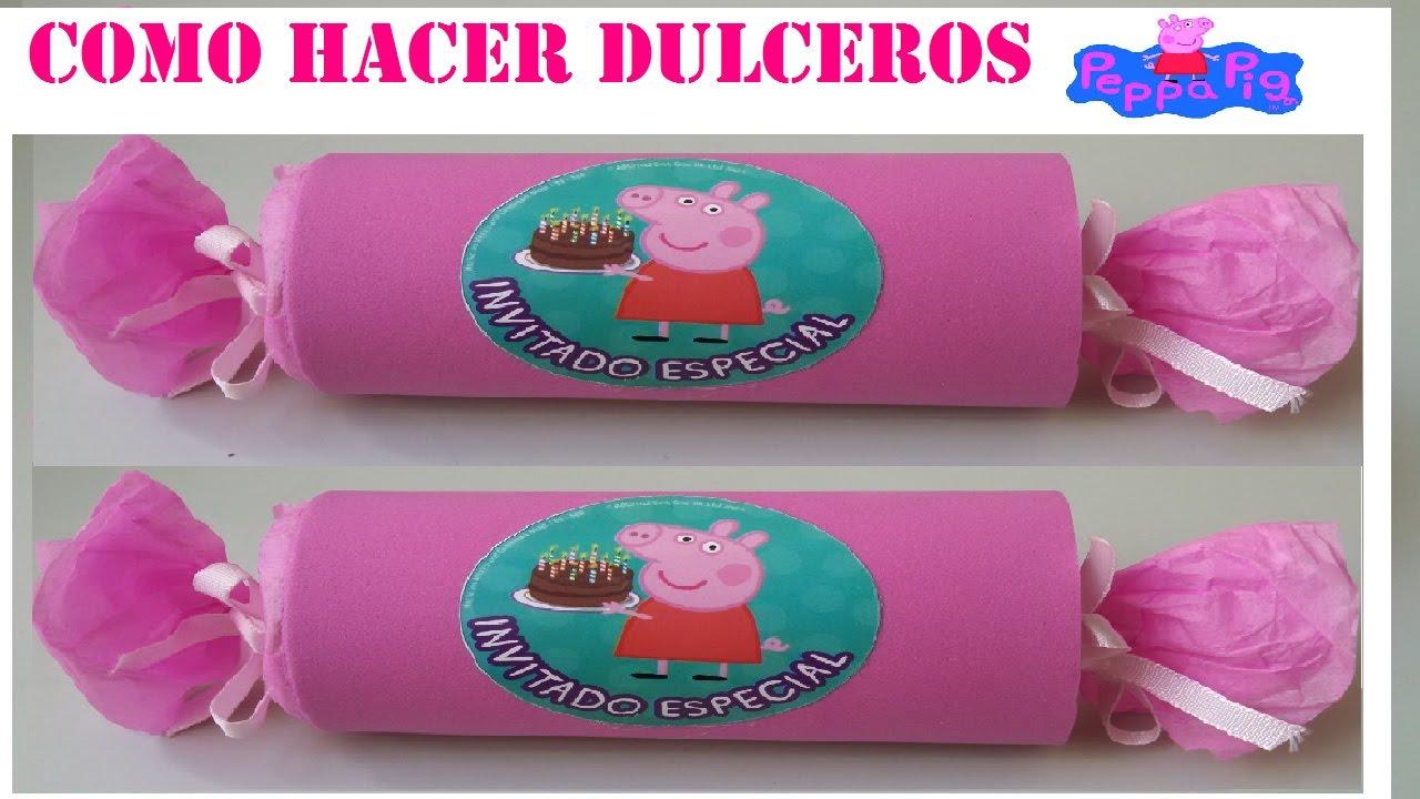 f6edc12d1 COMO HACER DULCERO FACIL PEPPA PIG - YouTube