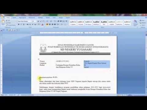 Tutorial Microsoft Word Pembuatan Surat Resmi Youtube