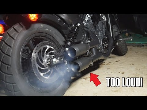 2018 Indian Scout Bobber Trask slip on exhaust ride by