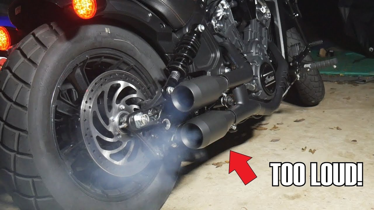 2018 Indian Scout Bobber Trask slip on exhaust ride by ...