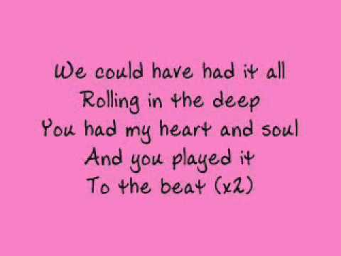 Adele Rolling in the Deep With Lyrics - Full Song Video - Adele Rolling In The Deep