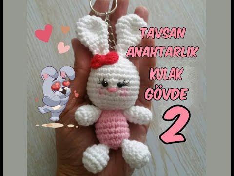 Amigurumi Tavşan Anahtarlık 2 (Kulak, Bacak ve Kol) Rabbit Key Chain 2 (Ear, Leg and Arm )