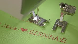 Sewing decorative stitches and letters with the B 435, B 475 QE, B 480 and B 485