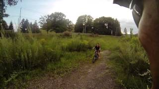 Biking through SUNY Cobleskill
