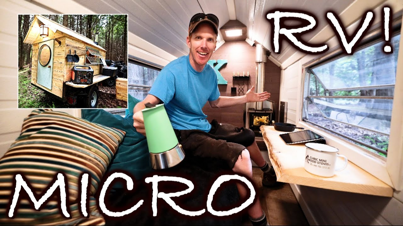 """Overnight Glamping in MICRO 32 sq ft. RV Camper in LUXURY! - The """"Glamper"""""""
