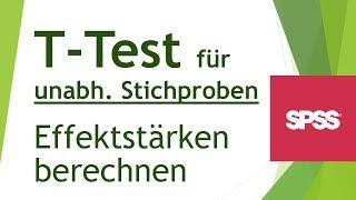 Effektstärke für t-Test für unabhängige Stichproben ermitteln - Daten analysieren in SPSS (57)