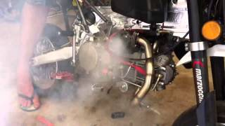 Turbo charged pit bike motovert