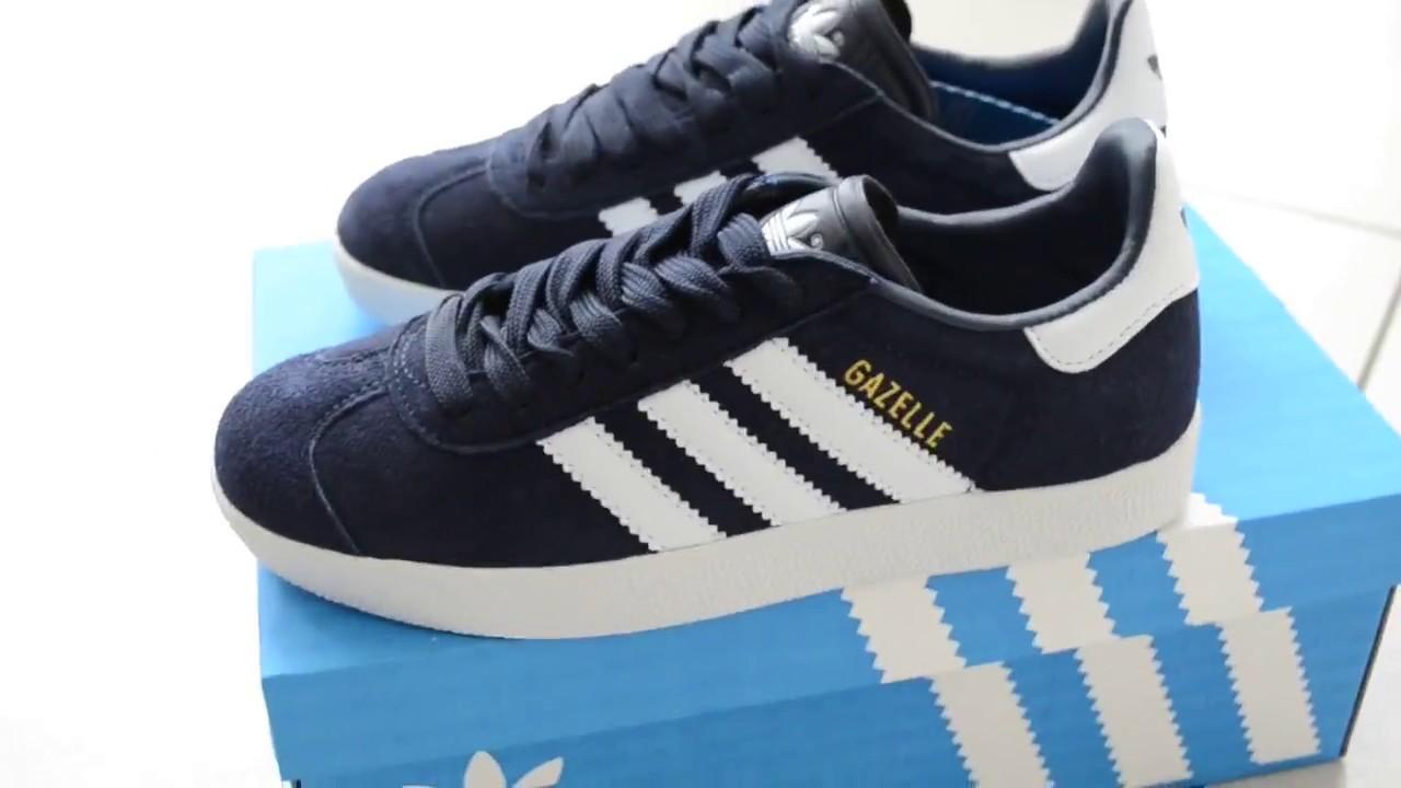 97329b42 кроссовки Adidas Gazelle темно-синие - YouTube