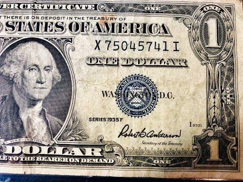 Rare Dollar Bills: 1935 Silver Certificate
