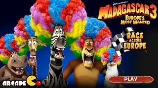 Madagascar 3: Race Across Europe 3D - Madagascar 3 Racing Game