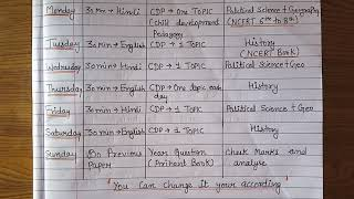 Study 📚✏ timetable for CTET Paper 2