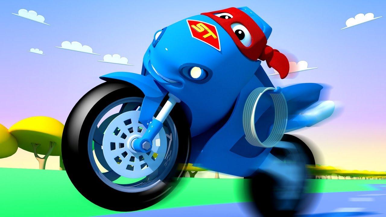 Детские мультики с грузовиками - Мотоцикл грузовик - Супер ...