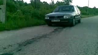 Fiat Croma Podhorany burnout