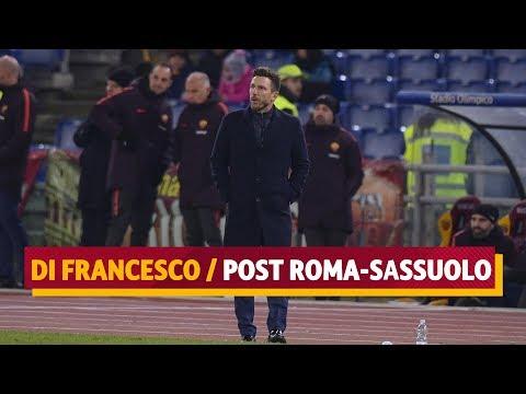 ROMA-SASSUOLO 3-1 | L'intervista di Eusebio Di Francesco
