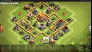 Diseño de aldea para Ayuntamiento nivel 5 Clash of Clans