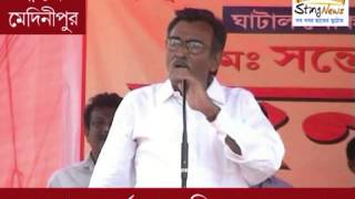 Suryakanta Mishra campaigns for Ghatal nominee Santosh Rana at Keshpur on 9 May, 2014