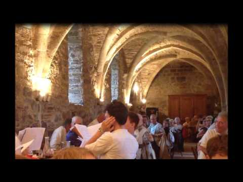 Shenandoah: the Choir of New College, Oxford, sings for its supper while on tour in France.