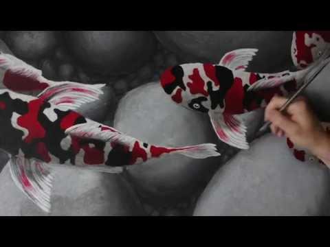 Koi Fish Painting Time-lapse/ How to paint koi fish
