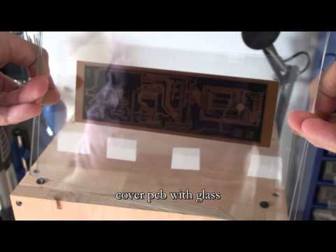 Making a PCB with UV exposure