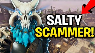 Salty Squeaker Scams Himself! for whole inventory! (Scammer Get Scammed) Fortnite Save The World
