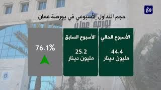 بورصة عمّان تحقق نتائج إيجابية في تداولات الأسبوع الحالي - (29-3-2018)