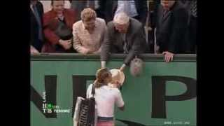 Boris Yeltsin watching Maria Sharapova