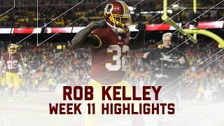 Rob Kelley's 3-TD Performance! | Packers vs. Redskins | NFL Week 11 Player Highlights