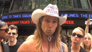 Naked Cowboy sues rival Naked Cowgirl