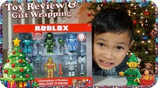 Champions of Roblox Toy Review and Christmas Gift Wrapping - TigerBox HD